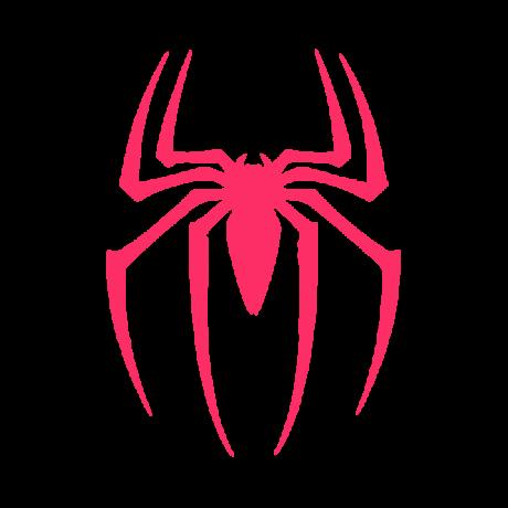 Keresztes pók autó matrica pink #562
