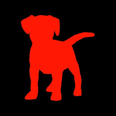 Beagle kutya autó matrica piros #180