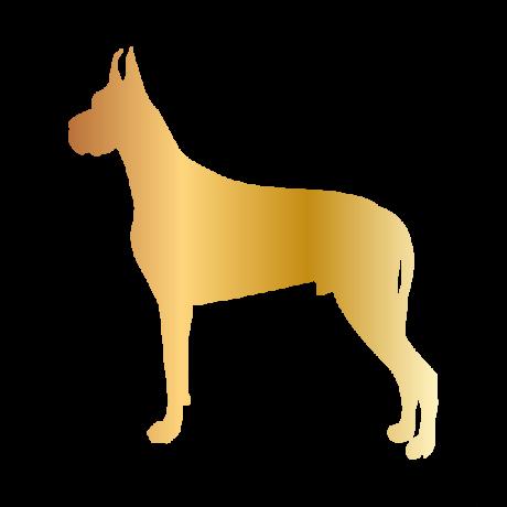 Dobermann kutya autó matrica arany #184