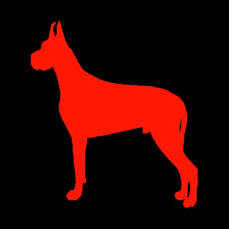 Dobermann kutya autó matrica piros #185
