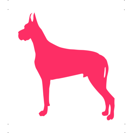 Dobermann kutya autó matrica pink #183