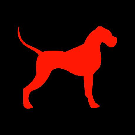 Német Dog kutya autó matrica piros #195