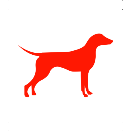 Német Pincser kutya autó matrica piros #200