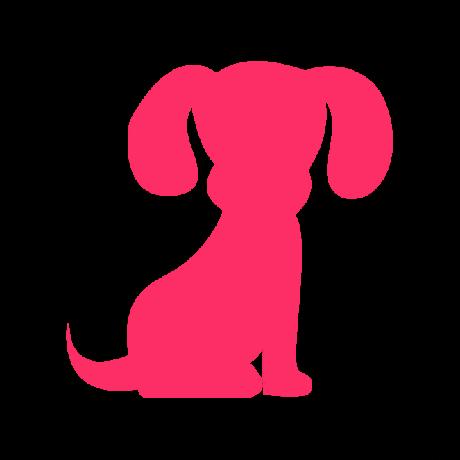 Kölyök kutya autó matrica pink #208