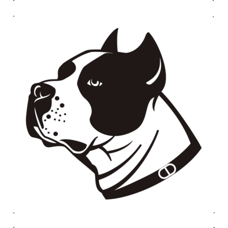 Amstaff kutya autó matrica fekete #211