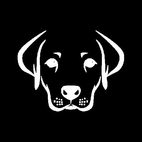 Kutya fej autó matrica fehér #217