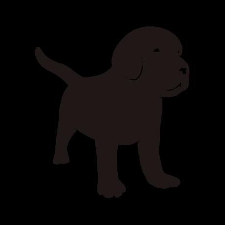 Kistestű kutya autó matrica fekete #221