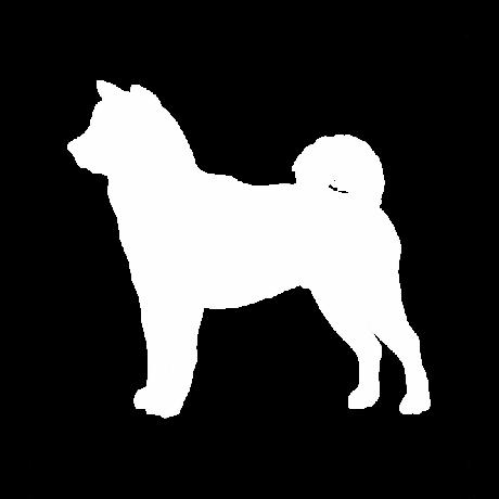 Akita kutya autó matrica fehér #227