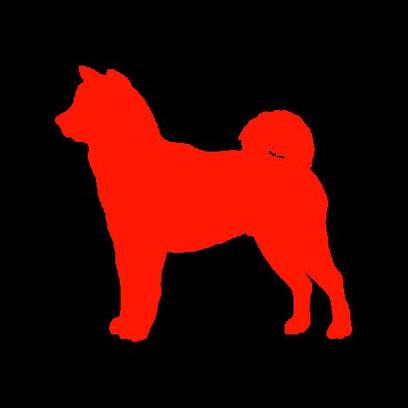 Akita kutya autó matrica piros #230