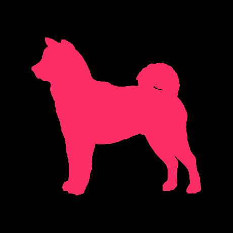 Akita kutya autó matrica pink #228