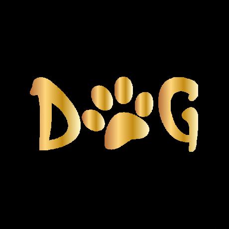 Dog tappancs felirat autó matrica arany #234