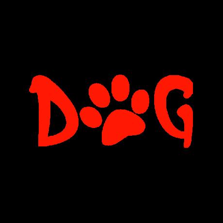 Dog tappancs felirat autó matrica piros #235