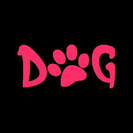Dog tappancs felirat autó matrica pink #233