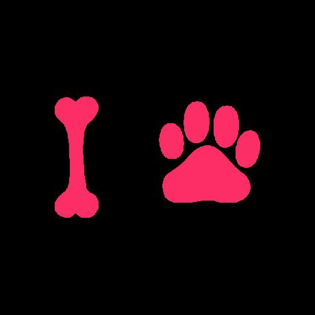 Csont-mancs autó matrica pink #243