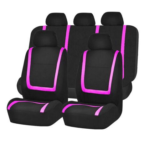 Pink-fekete univerzális autó üléshuzat 9 részes