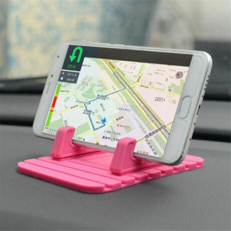 Csúszásmentes mobiltartó műszerfalra pink