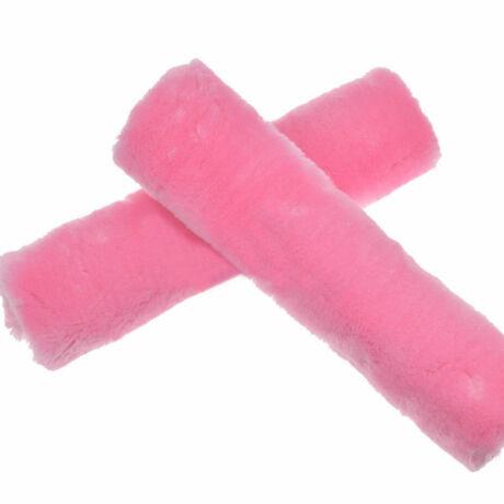 Plüss autó biztonságiöv párna, pink, 2db