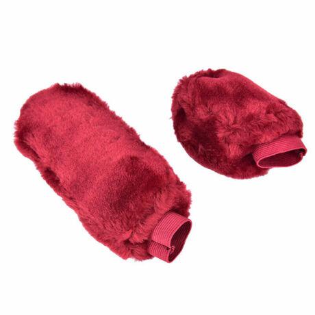 Plüss kézifék és váltókar huzat, piros