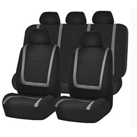 Szürke-fekete univerzális autó üléshuzat 9 részes