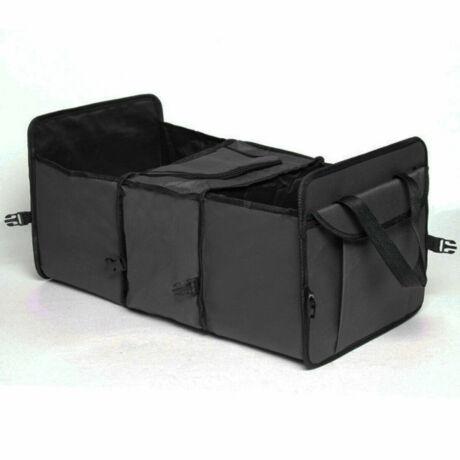Csomagtér tároló, 3 rekeszes, középen termó rekesszel, fekete