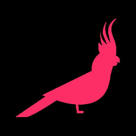 Kakadu autó matrica pink #632