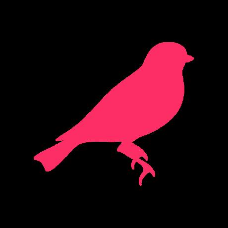 Cinege autó matrica pink #637