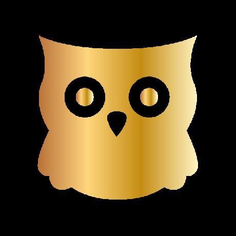 Bagoly autó matrica arany #343