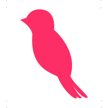 Veréb autó matrica pink  #657