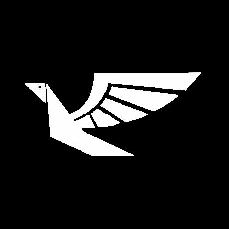 Repülő madár autó matrica fehér #676
