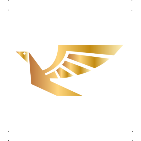 Repülő madár autó matrica arany #678