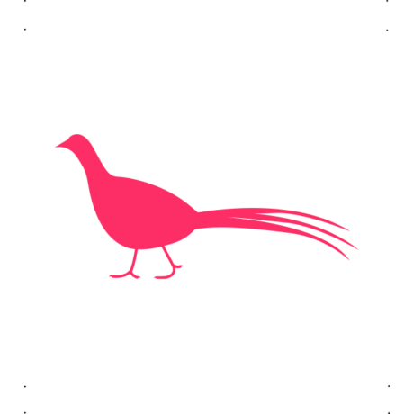 Fácán autó matrica pink #687