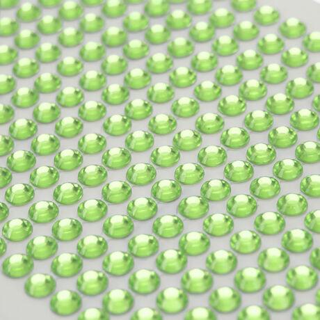 Öntapadós dekor strassz kövek zöld 750 db 3mm