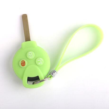Szilikon kulcsvédő tok, kisebb kulcshoz zöld