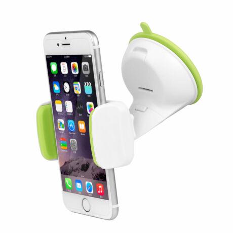 Univerzális, állítható mobiltartó zöld/fehér