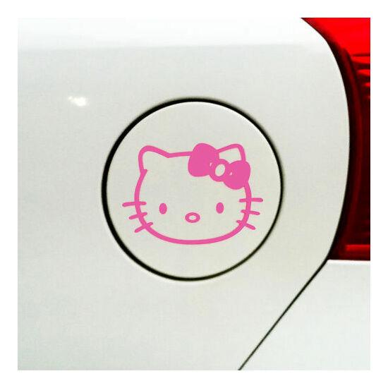 Hello Kitty tanksapka, autó matrica PINK
