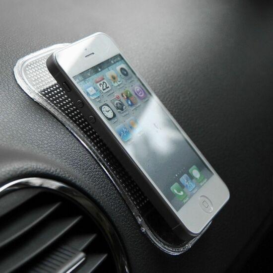 Mágikus, tapadó és csúszásgátló mobiltelefon tartó SZÍNTELEN