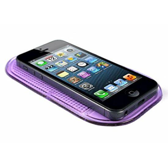 Mágikus, tapadó és csúszásgátló mobiltelefon tartó LILA