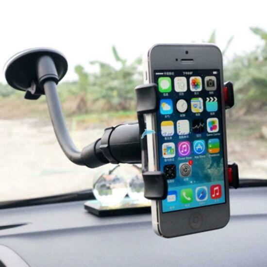 Univerzális, csipeszes mobiltelefon tartó FEKETE