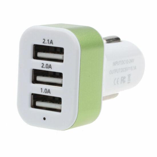 Szivargyújtós mobil töltő/USB csatlakozók HOT PINK